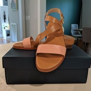 Cole Haan Findra Strappy Sandals Leather & Pink